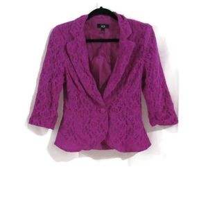 AGB lilac colored floral lace Blazer 6